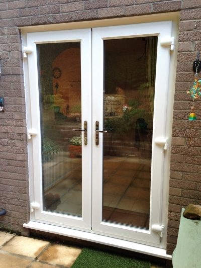 Cymru glass repairs for Upvc french doors with letterbox